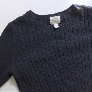 St Johns Bay Navy Cable Knit Cardigan